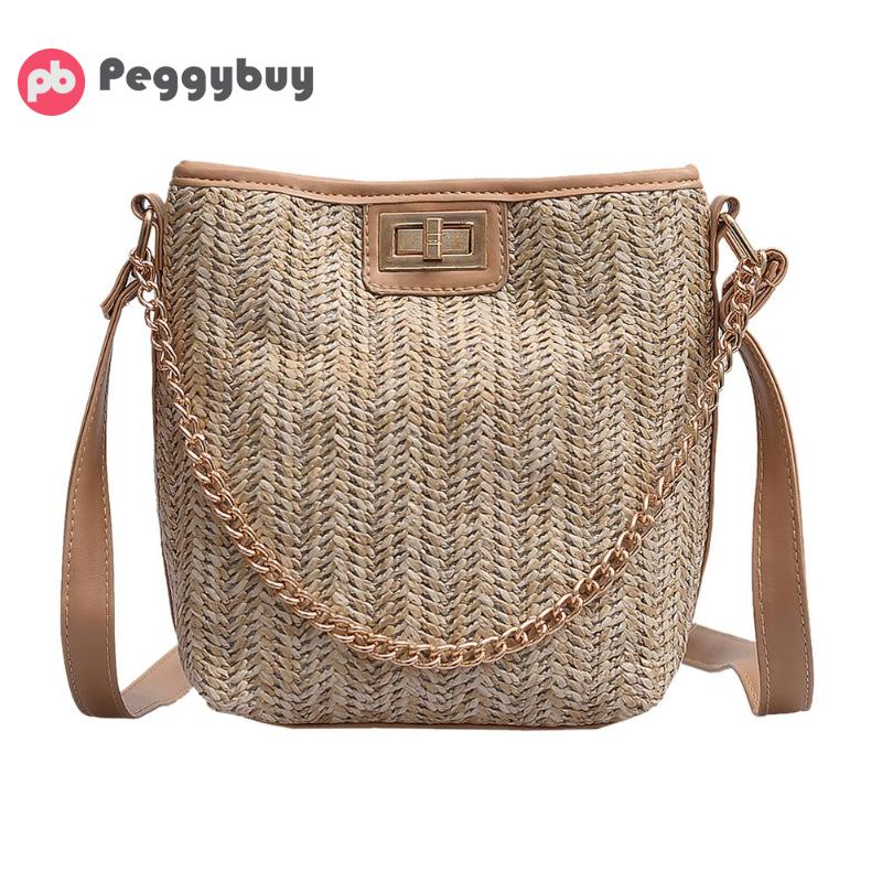 Confident Straw Handbags New Summer Rattan Shoulder Bag Hand-woven Beach Crossbody Bag Cactus 2019 Fashion Bohemian Handbag Bali Bag Top-handle Bags
