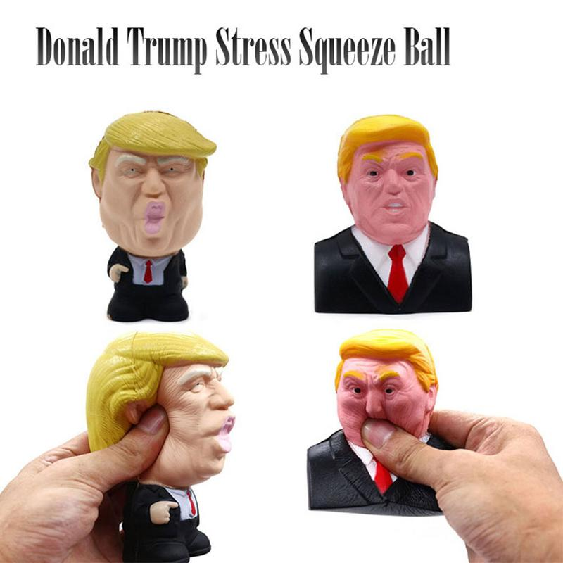 Donald Trump Stress Squeeze Ball Jumbo Toy Cool Novelty Pressure Relief Slow Rising Stress Reliever Slow Rebound Novel Toys