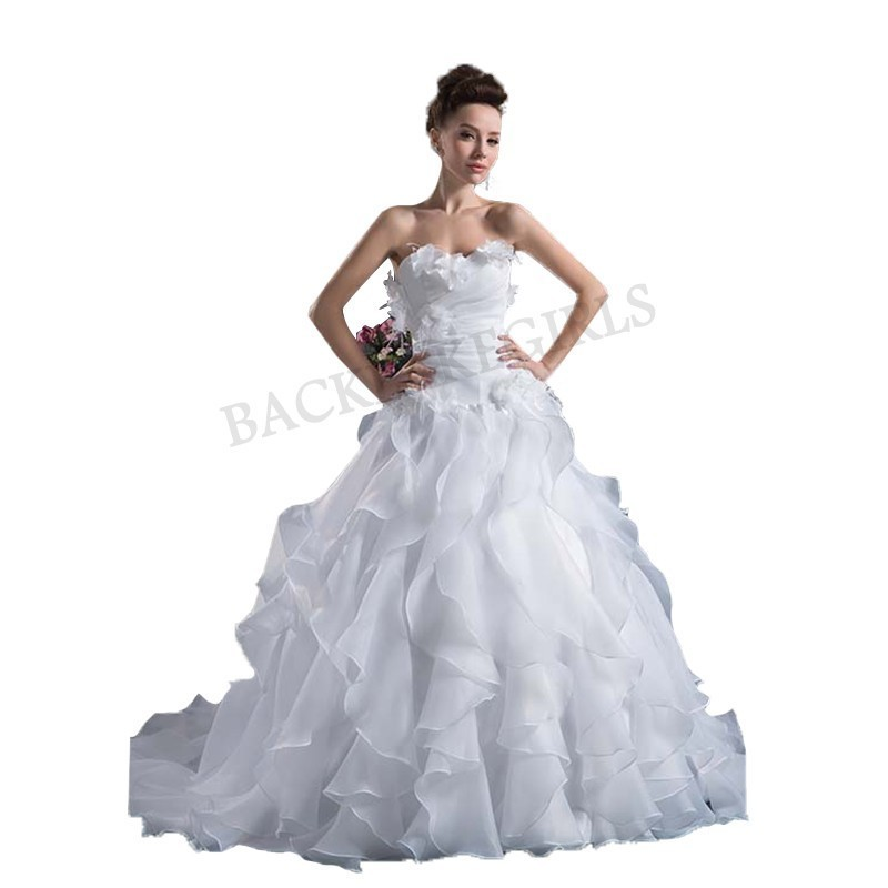 Wedding Gowns With Ruffles: Aliexpress.com : Buy Wedding Dress 2018 New Fashion