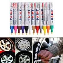 1PCS 12 Color Car Tyre Permanent Paint Pen Tire Metal Outdoor Marking Ink Marker Trendy Waterproof Graffiti Oily Marker Pen cheap Art Marker 12 Colors KICUTE