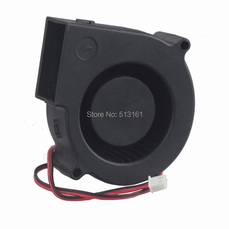 2Pcs Gdstime Ball Bearing 7530 75mm Blower Fan 75x30mm 24V DC 2Pin Case Cooling Exhaust Fan in Fans Cooling from Computer Office