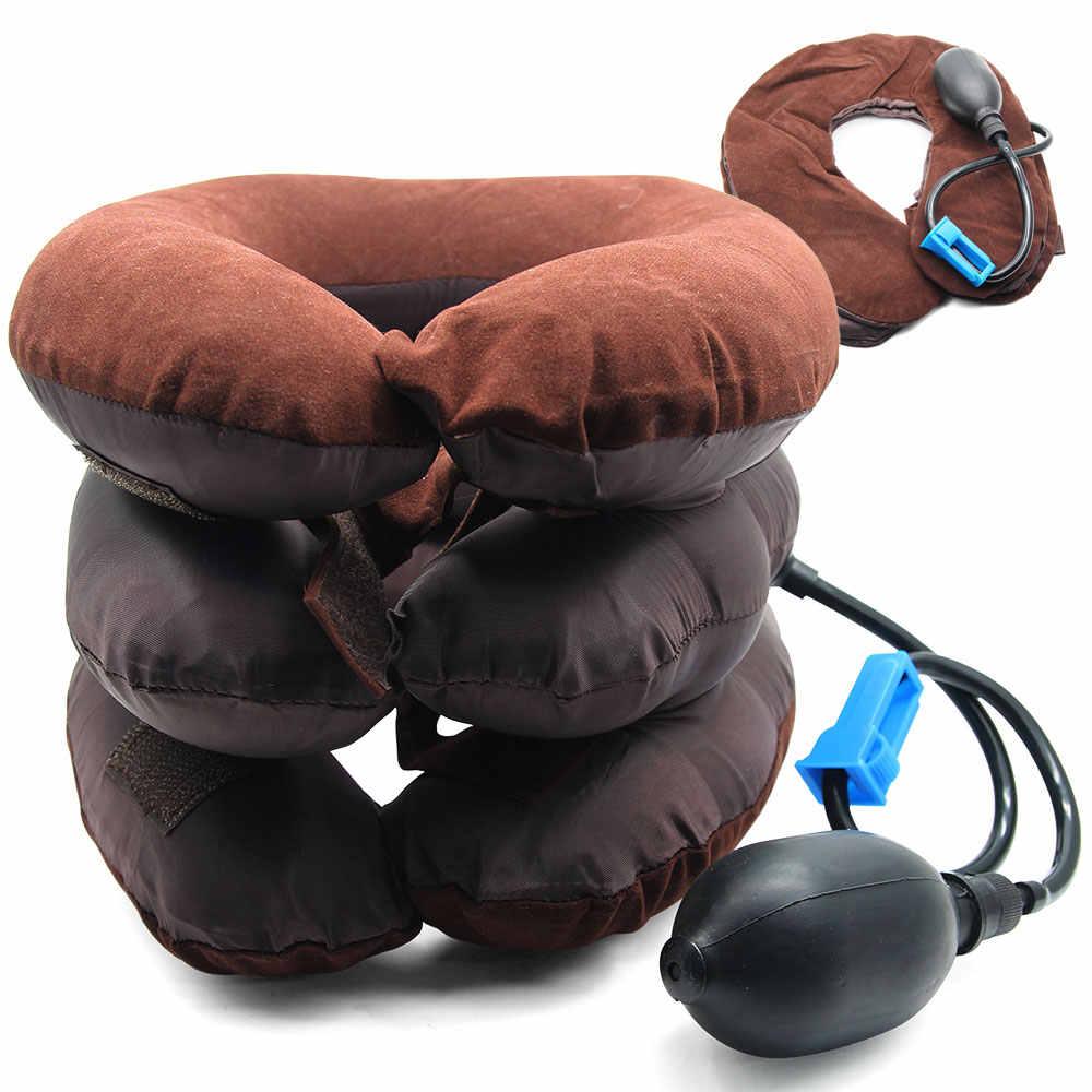 מתנפח אוויר כרית לעיסוי צוואר הרחם צוואר גרירה צוואר עיסוי מתיחת מכשיר כתף כאב הקלה שרירים להירגע צוואר הרחם