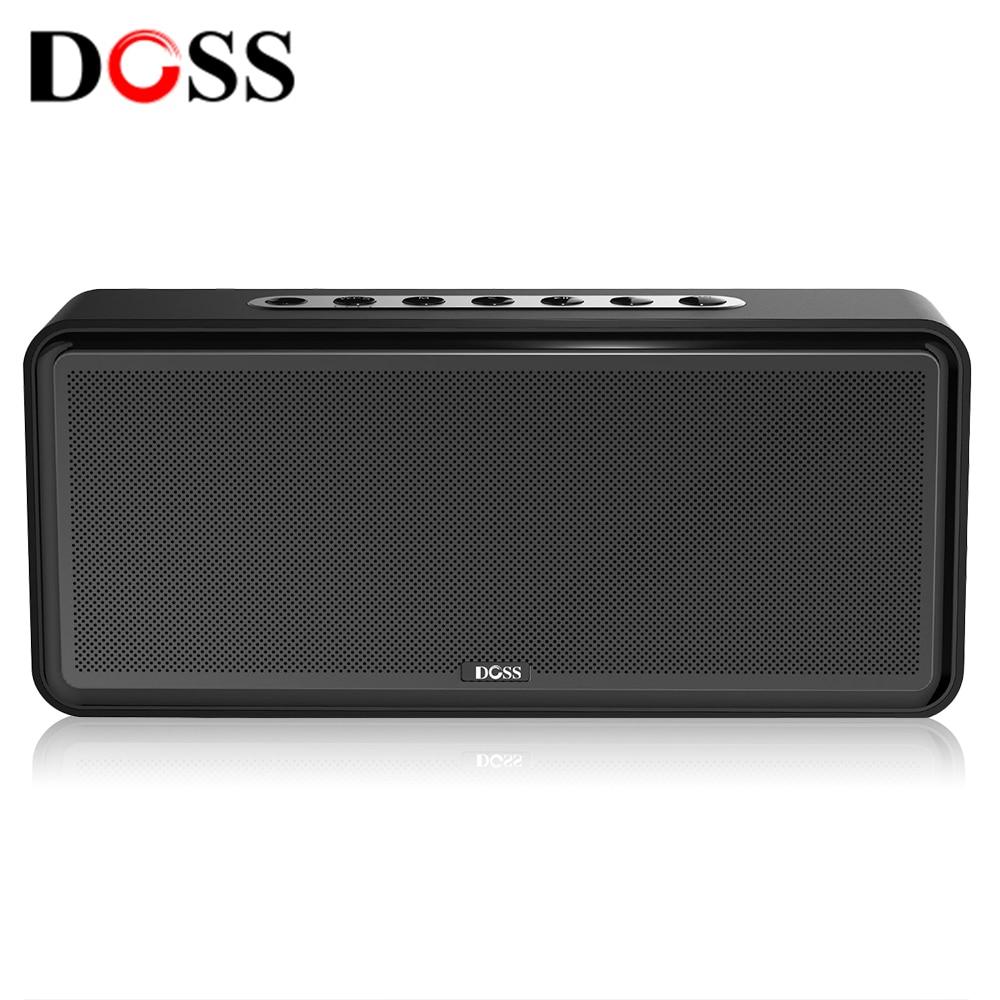 Doss DS 1685 portátil sem fio bluetooth soundbar alto falante som estéreo de alta qualidade 3.5mm entrada áudio aux subwoofer