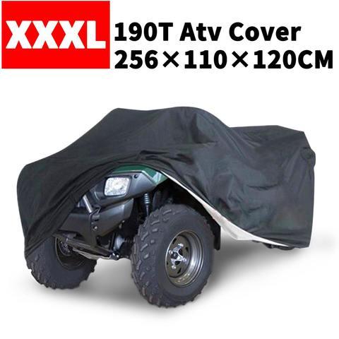 universal preto xxxl 190 t a prova d agua quad atv veiculo cobertura de scooter