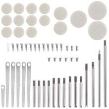 58 ชิ้น/ล็อต Clarinet อะไหล่ซ่อมชุดเครื่องมือ Clarinet Sound Hole แผ่น Roller Reed สกรูเครื่องมือลมชุดซ่อม
