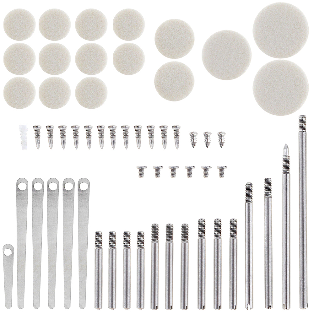 58pcs/lot Clarinet Repair Parts Set Complete Tools Clarinet Sound Hole Mat Pad Roller Reed Screws Wind Instrument Repair Kit