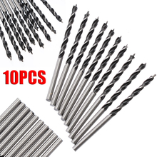 10pcs/Set 3mm Diam Twist Drill Bit 58mm Length Wood Spiral Drill Bits with Center Point High Strength Woodworking Drilling Tool цена 2017