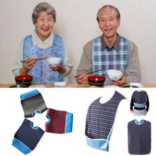 Adult Waterproof Adult Mealtime Bib Cloth Protector Disability Aid Apron