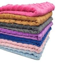 ZYFMPTEX 2019 Ultrasoft Plush Minky Fabric 370g 150CM Width Bubble Polyester For Bedding Blanket Cushion Minky Dot Fabric