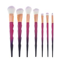 7pcs Diamond Rose Red Gradient Black Makeup Powder Foundation Blusher Make up Brushes Pincel Maquiagem Makeup Brushes pro maquiagem 10pc makeup brushes set with puff and bag foundation eyeshadow powder blusher make up brushes pincel maquiagem new