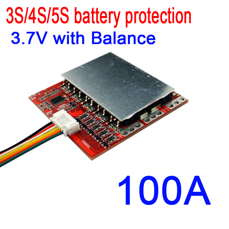 DYKB 3S 4S <font><b>5S</b></font> 100A 12V 16.8V 21V PCM BMS battery <font><b>protection</b></font> board w/ Balance for <font><b>18650</b></font> lithium Li-ion LiPO Polymer battery 3.7V image