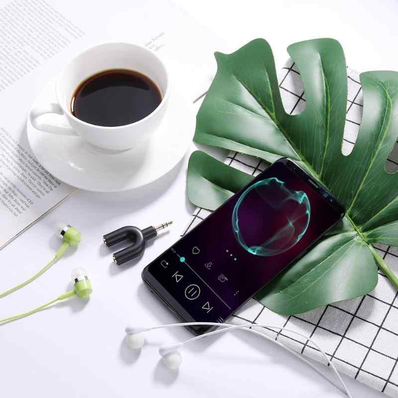 3.5mm rozszerzenie słuchawki słuchawki rozdzielacz audio 1 męski na 2 żeńskie adapter do kabla konwerter złącze