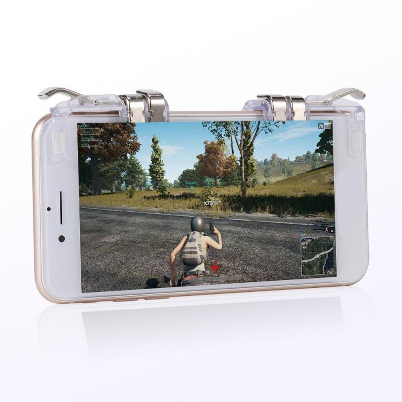 Game Shooter Fire Button Six Fingers Aim Keys Gaming Trigger L1R1 Shooter Controller for iPhone Huawei Phones for PUBG Game