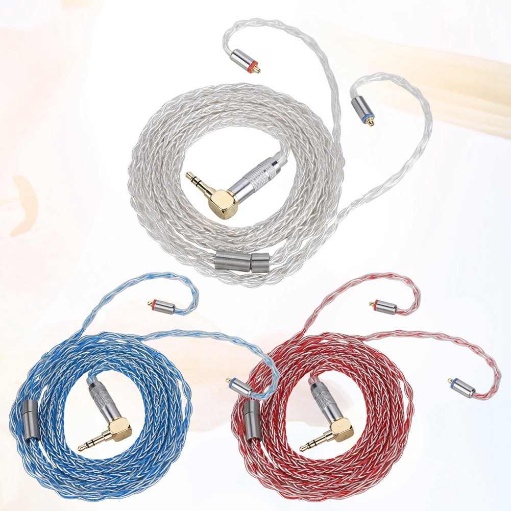 8 rdzeń MMCX posrebrzane pojedynczego kryształu miedzi kabel do Shure słuchawek MMCX kabel słuchawek
