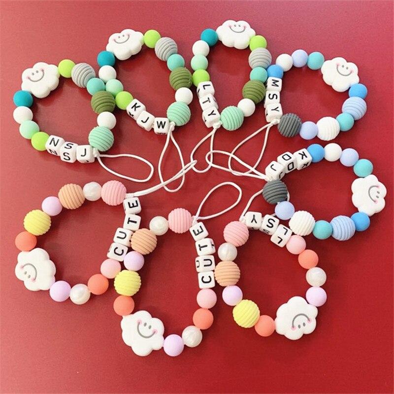 Купить с кэшбэком Chenkai 100pcs BPA Free Silicone Spiral Teether Beads DIY Baby Pacifier Teething Montessori Sensory Jewelry Making Toy Beads