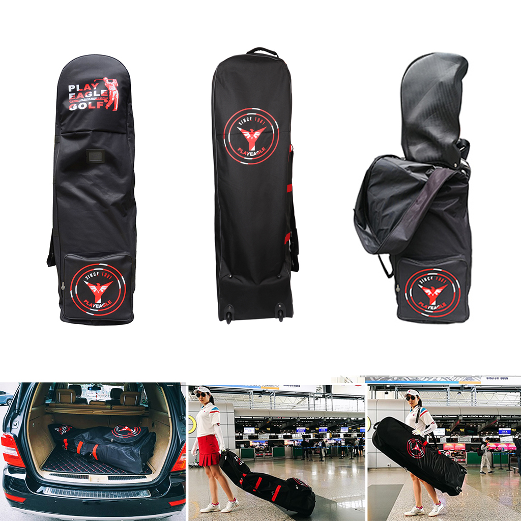 Folding Golf Aviation Bag Travel Trolley Cover Large Capacity Golf Club Rolling Wheel Carry Bag Case With Anti-theft Coded Lock