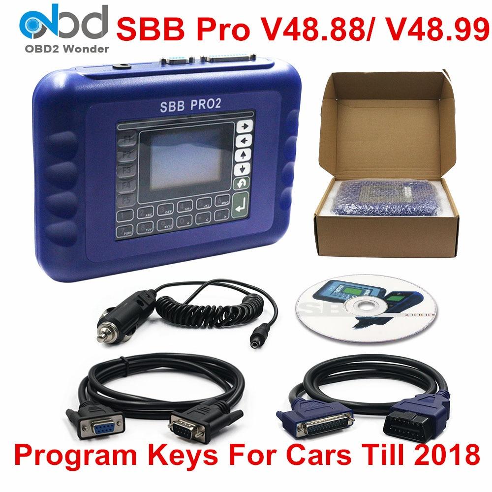Nouveau Sbb V48.88 V48.99 Sbb Pro2 Obdii programmeur de clé automatique transpondeur Sbb Pro 2 48.88 48.99 mise à jour de la fonction Code 46.02 broches