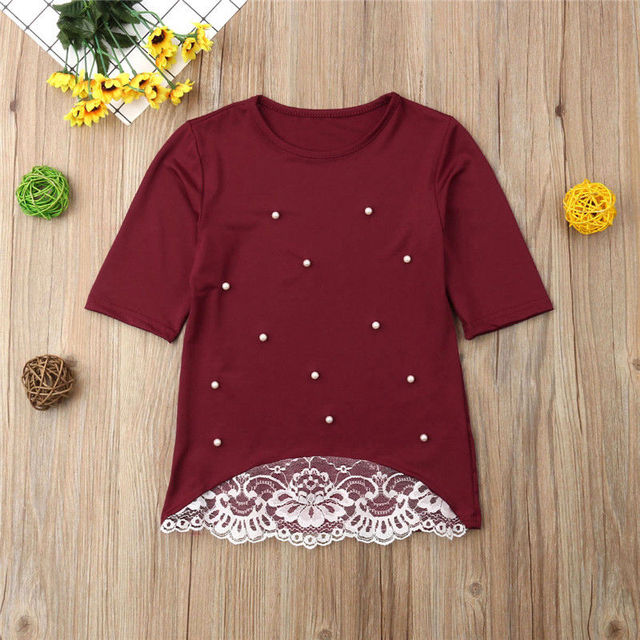 2019 Mommy and me family matching mother daughter dresses clothes solid mom and daughter pearl dress kids parent child outfits 5