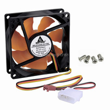5PCS Silent 80mm 12V 80mmx25mm 8025 DC Cooling Fan For Computer Case Cooler верхний душ hansgrohe raindance select s 30 27378000 хром