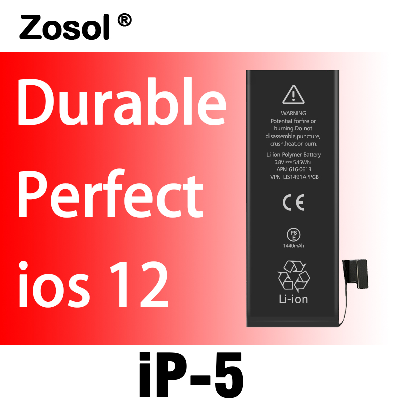 10pcs lot best quality for iphone 5 battery original replacement for iphone5 5g in mobile phone