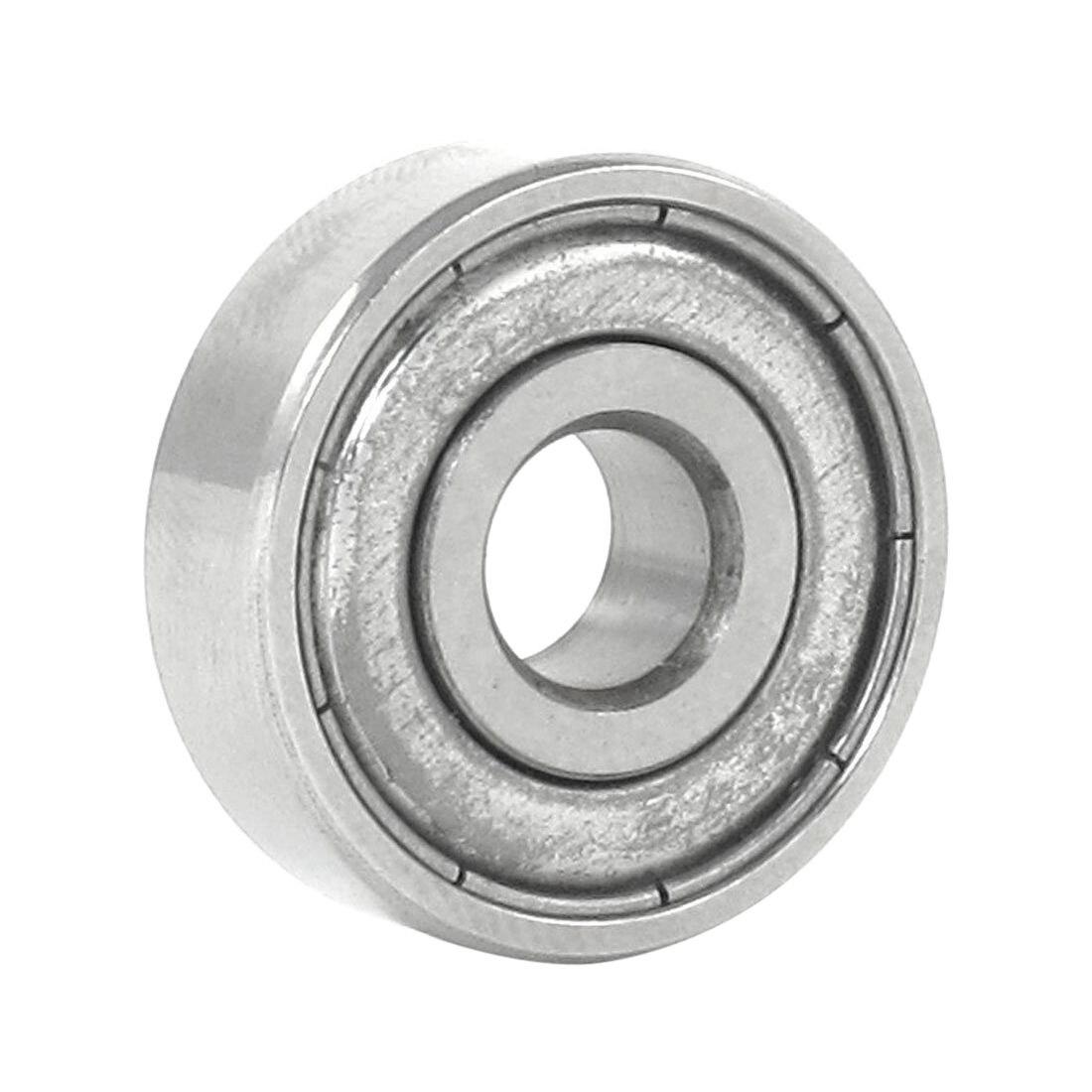 ELEG-Silver Metal 627Z Deep Groove Ball Bearing Ball Bearing 7mm X 22mm X 8mm