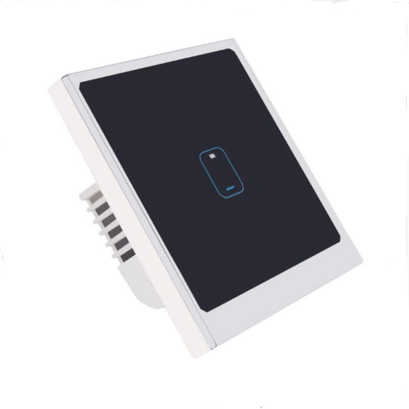 App Control Wifi Switch Eu Standard 1 Gang 1 Way Light Switch Wall Press Smart Switch