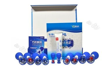 Health Care New Haci Wuxing Zhen Magnetic Acupressure Suction Cupping Set 10 Cups Home Care Magnetic Therapy Acupuncture