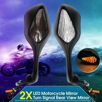 Motorcycle Rearview Side Mirrors with LED Turn Signal Light Lamp For Honda CBR1000RR CBR 1000 RR 2008 2013 ABS Rear View Mirrors