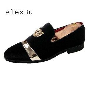 Мужские замшевые туфли AlexBu, темно-синие классические туфли с золотым тигровым носком, свадебная обувь, лоферы, 2019