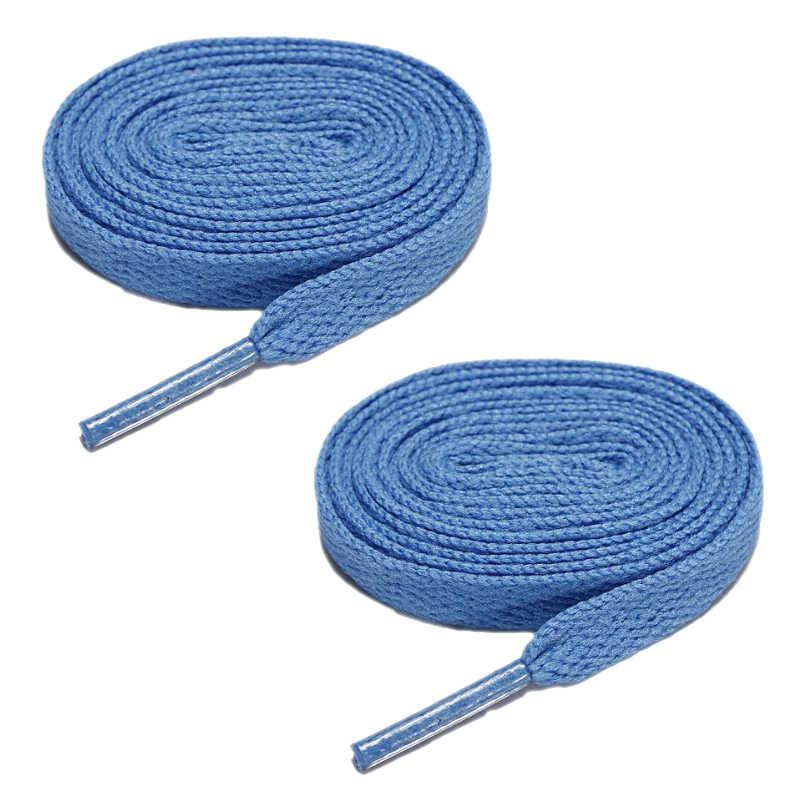 แบนรองเท้า Laces Bootlaces Trainers Skate Strong Shoelaces Azure