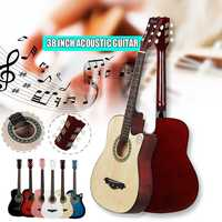 IRIN 38 Inch Guitar Acoustic Acoustic Beginners Getting Started Practicing Guitar Stringed Instruments
