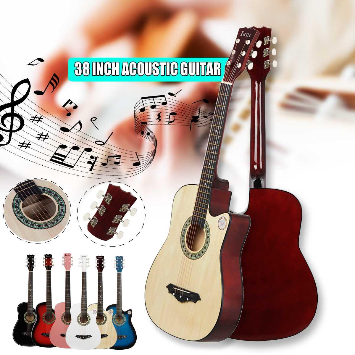 IRIN 38 pouces guitare acoustique acoustique débutants pour commencer à pratiquer la guitare Instruments à cordes