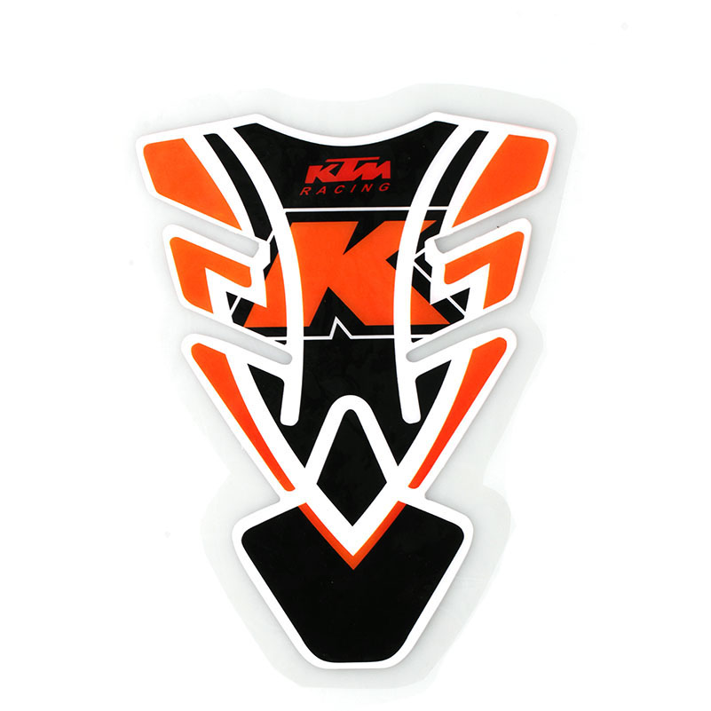 psler Motorcycle 3D Fuel Tank Pad Sticker Protective Decorative Decal for KTM DUKE 125 White