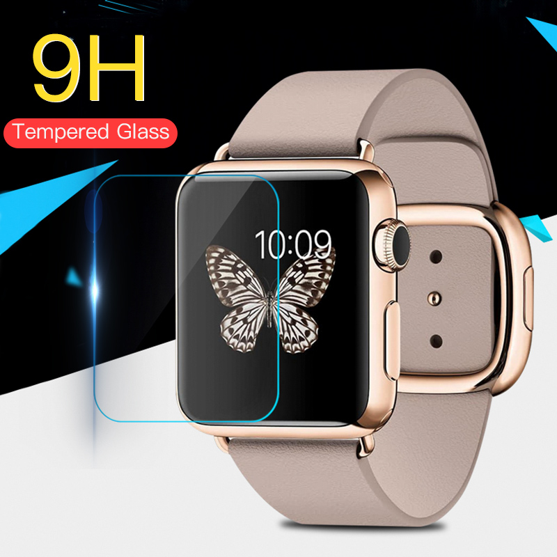 9H Tempered Glass Film For Apple Watch Series 38mm 42mm 40mm 44mm Screen Protector For IWatch HD Ultra-thin Glass Film