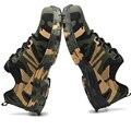 Мужская дышащая Рабочая защитная обувь со стальным носком  мужские уличные противоскользящие стальные проколы  безопасные военные сапоги