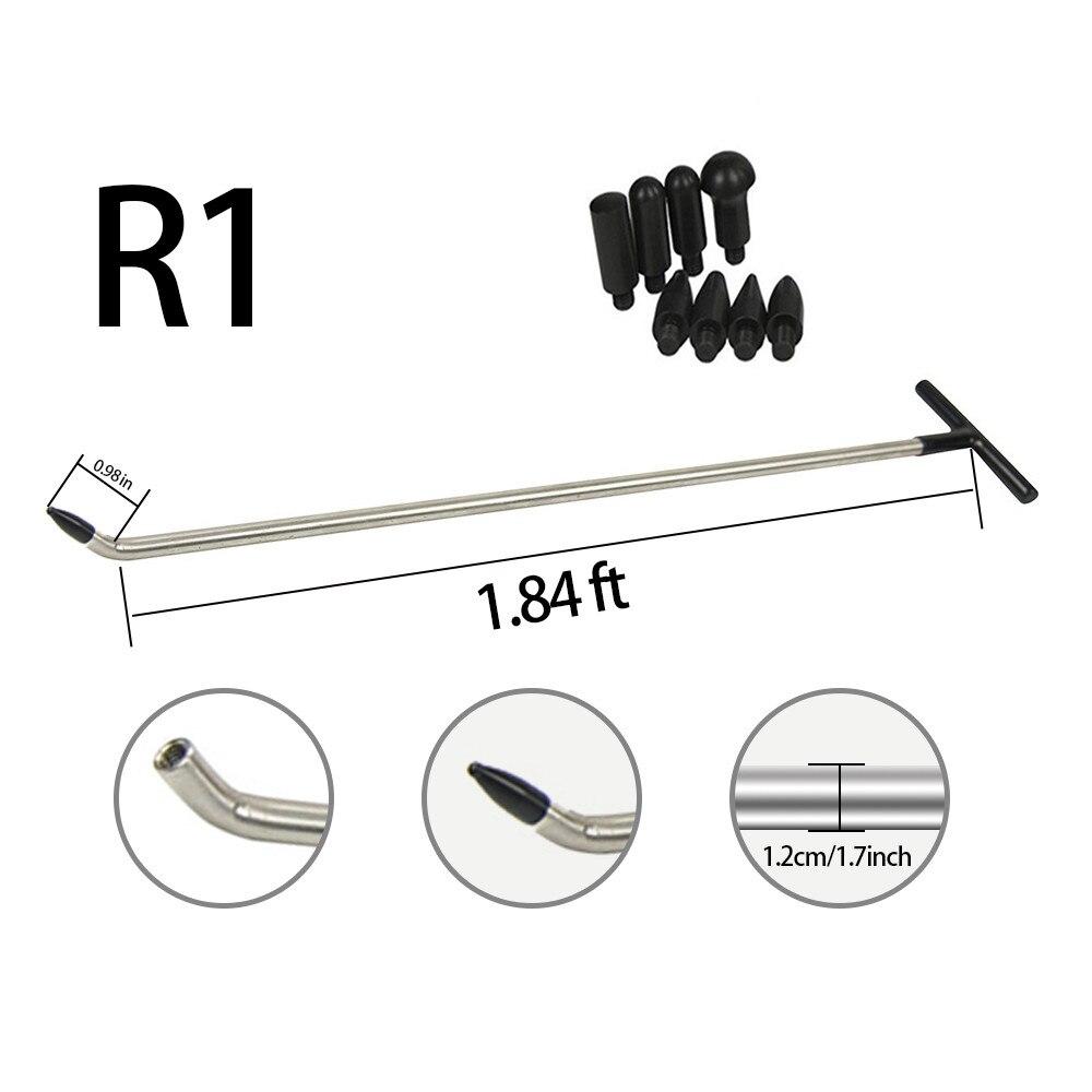 1pc Recém Projeto Rods Ferramentas PDR PDR Ferramentas Gancho Push Rod com 8 pcs torneira para baixo cabeças (R1)