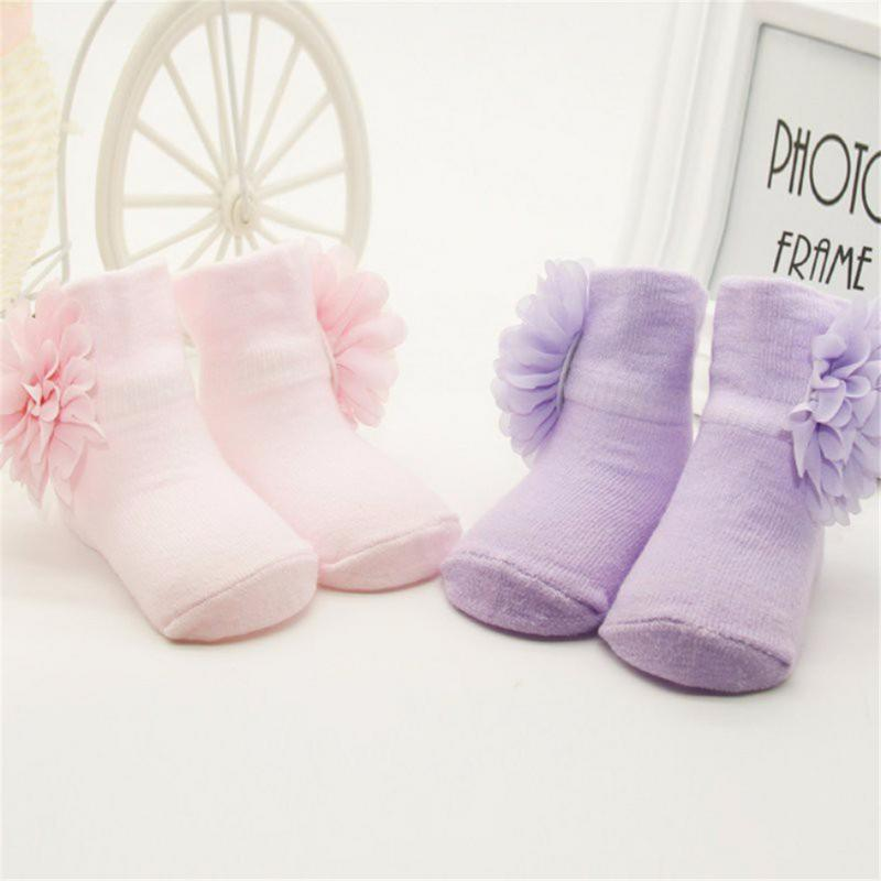 Ankle-Socks Steps Newborn Toddlers Baby Infants Princess Gift Cotton Flower