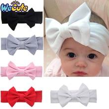 Wecute Baby Girls Big Bowknot Hairband Elastic Soft Headband Turban Infant Newborn Cute Lovely Hair Decoration New Headwear