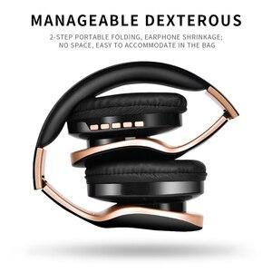Image 4 - HANXI cuffie con cancellazione del rumore bassi profondi cuffie Stereo senza fili Bluetooth cuffie da gioco pieghevoli con microfono