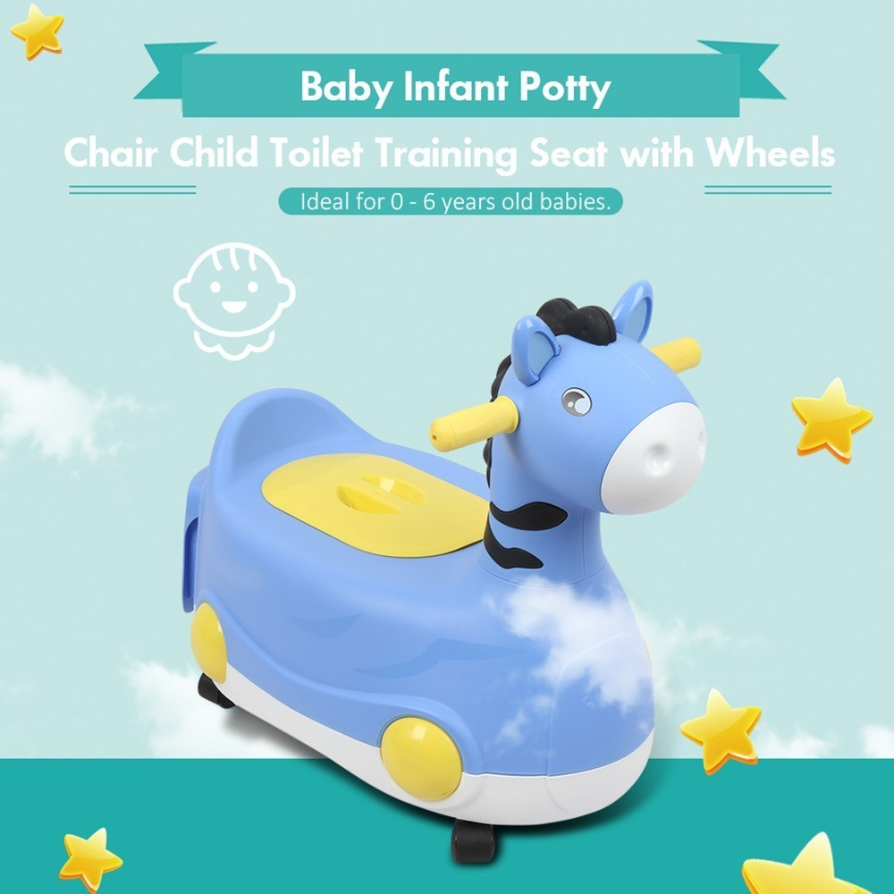 Baby Infant Potty Chair Child Toilet Training Seat PP With Wheels For Children Training Pan Toilet Seat Comfortable Backrest Pot
