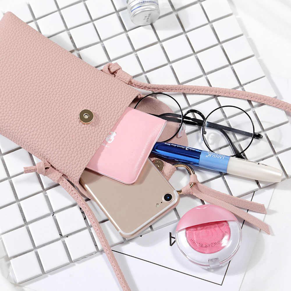 KISSCASE Đa Năng Bạn Gái Nữ Da PU Ốp Lưng Điện thoại Iphone 6 6 S 7 8 Plus Samsung Xiaomi Huawei túi đeo chéo cao Trường Hợp