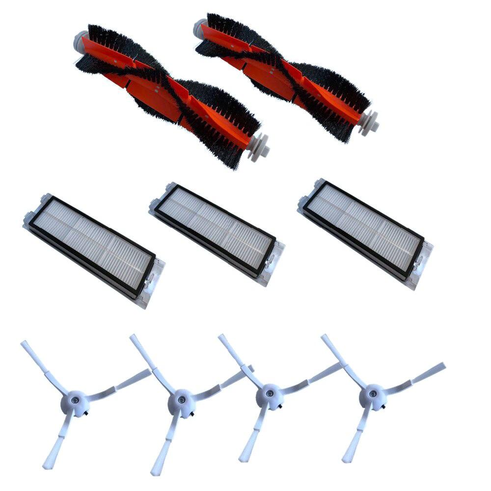 9-paquete filtro HEPA lado cepillo principal para Xiaomi Roborock mi S50 S51 S55 S5 Xiaowa Aspiradora accesorios de repuestos