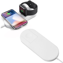 Airpower QI Wireless Charger For iWatch 1 2 3 iPhone X 8 8plu Quick Fast Charging Pad  Apple Watch Samsung S9 S8 S7 S6