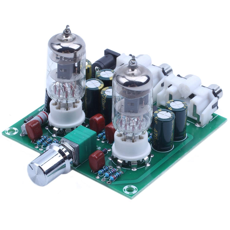 AC 12V 6J1 Valve Pre-amp <font><b>Tube</b></font> <font><b>PreAmplifier</b></font> Board Headphone Amplifier Buffer image