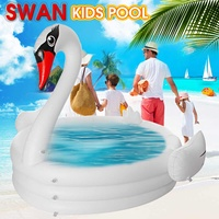 PVC Large Swan Swimming Pool Inflatable for Adults Baby Kids Summer Water Paddling Pool Bathtub Circles Float Pool Toys Gift