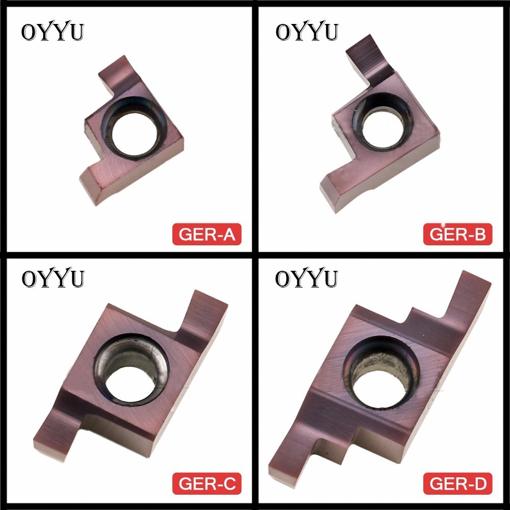 OYYU Small Hole Sloting  Blade GER100 GER120 GER150 GER200 GER250 GER300 GER350 GER400 A B C D Insert CNC Grooving Cutter Tools