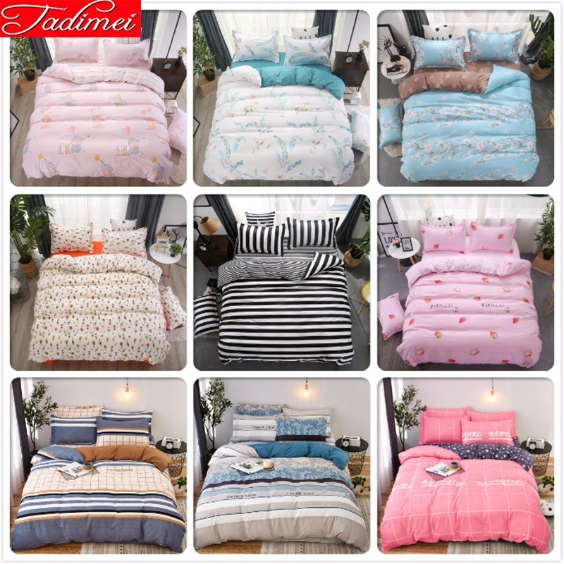 150X200 180X220 200X230 220X240 Duvet Cover Bedding Set Adult Kids Soft Cotton Bed Linen Single Full Queen King Size Bedspreads