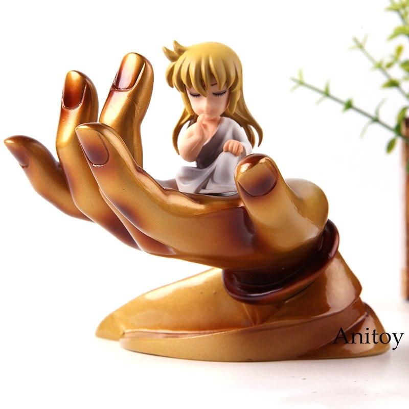 Saint Seiya Virgo Shaka with Buddha Hand Platform PVC Action Figure Car Decoration Dolls Collection Model ToysAction & Toy Figures   -
