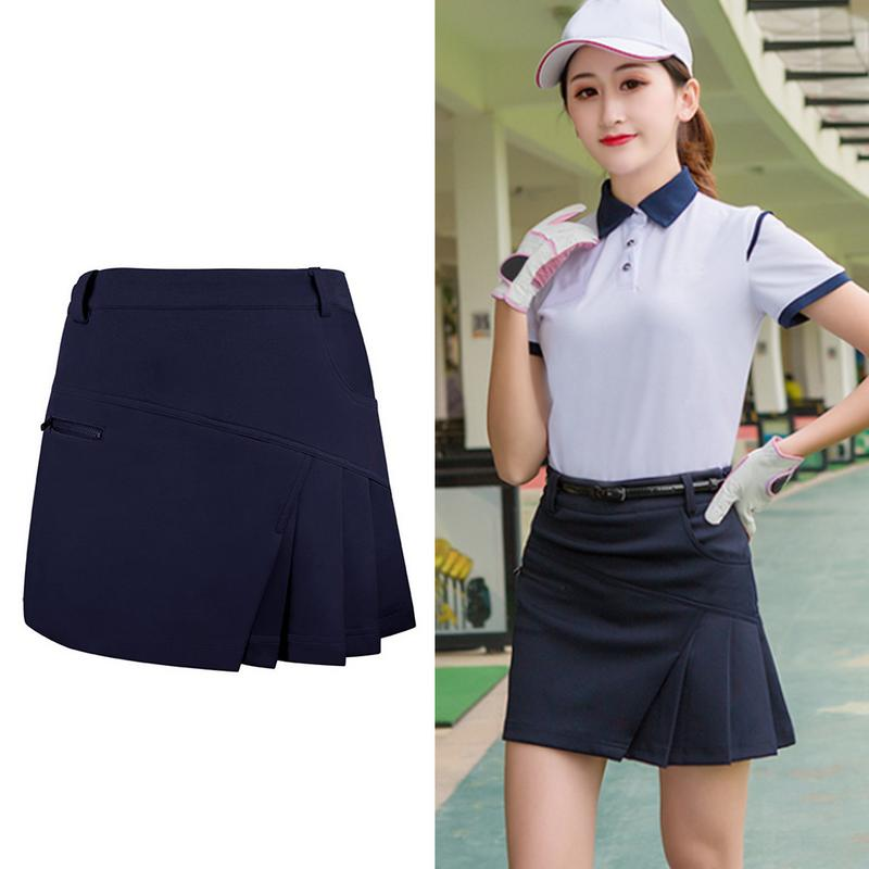 Fashion Women's Golf Divided Skirt For Badminton Tennis Women Sport Anti Exposure Tennis Skirt