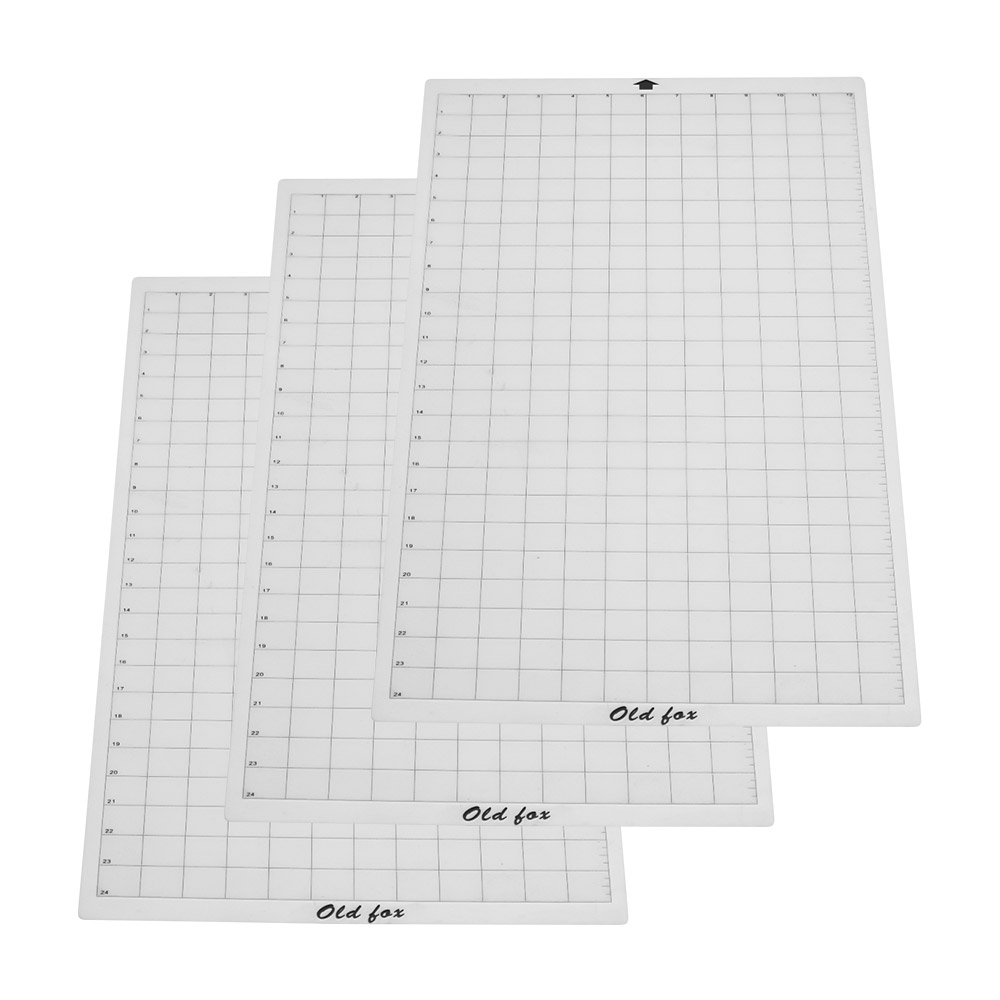 replacement cutting mat adhesive mat with measuring grid 12 24 inch for silhouette cameo cricut [ 1000 x 1000 Pixel ]